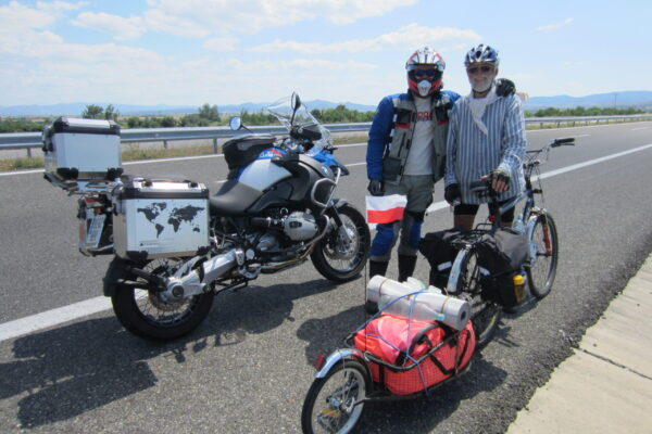 meet this man from poland, on his trip from poland to efez by bicycle
