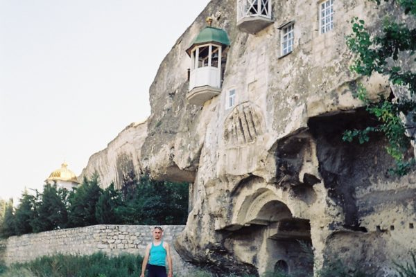 build into the rock monastery