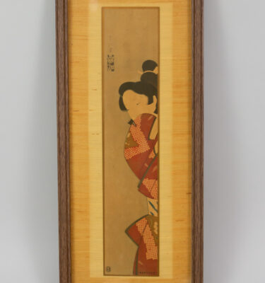 Cuadro antiguo de Geisha impreso