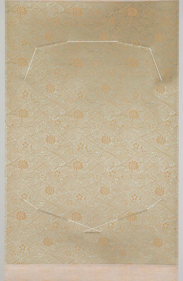 detalle de la tela del kake shikishi tanzaku