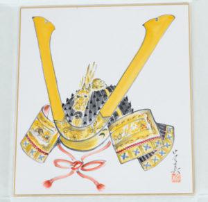 Shikishi samurai helmet,Shikishi to exhibit in May
