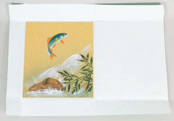 July Shikishi, motive: Salmon  jumping